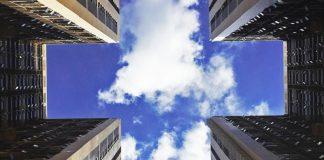 cloud above building