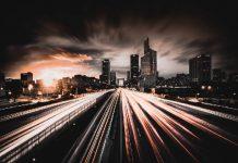 lights stretching over city horizon