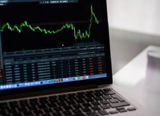 laptop showing graph